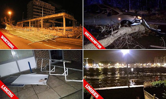 Britain to be battered by 80mph winds as Storm Imogen sweeps in