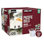 Kirkland Signature Coffee Organic Pacific Bold Recyclable K-Cup Pod, 120-Count