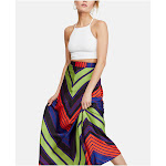 FREE PEOPLE Womens Navy Maxi A-Line Skirt
