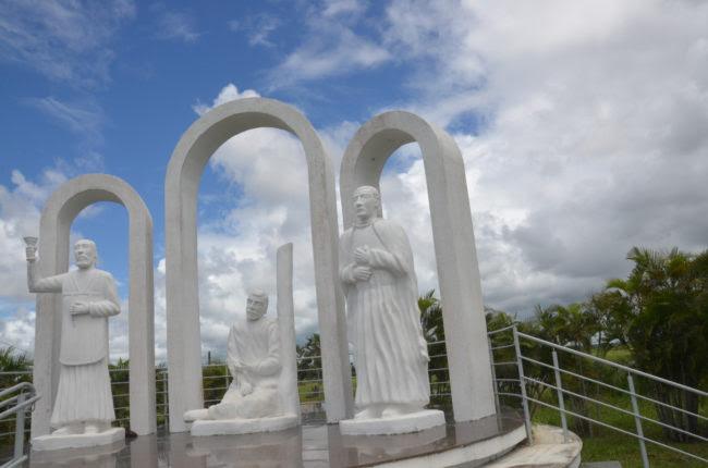 Monumento aos mártires de Cunhaú e Uruaçu. Foto: Divulgação/Prefeitura SGA