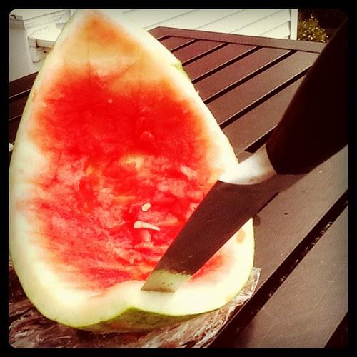 Conquered watermelon