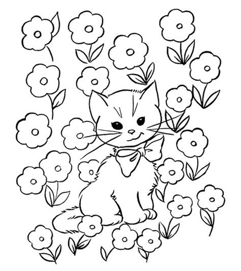 top   printable cat coloring pages  kids