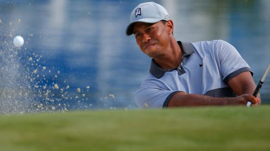 Tiger Woods plays first stretch of holes since August