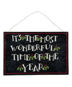 'Most Wonderful Time of the Year' Wall Sign