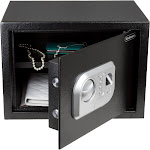 Stalwart Fingerprint and Digital Steel Safe, Black