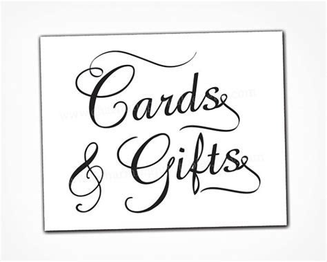 Card and Gift Table Sign   INSTANT DOWNLOAD   Printable