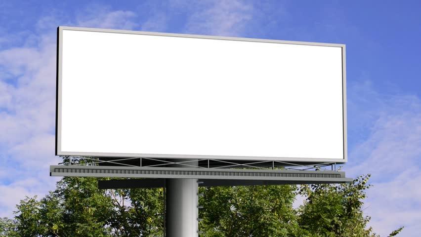 Billboard In The City Street, Blank Screen Hd Time Lapse Stock ...