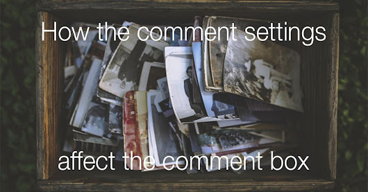 How the comment settings affect the comment box | The Commenting Club