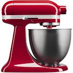 Kitchenaid Artisan Mini Tilt-Head Stand Mixer, Empire Red, 3.5 Qt