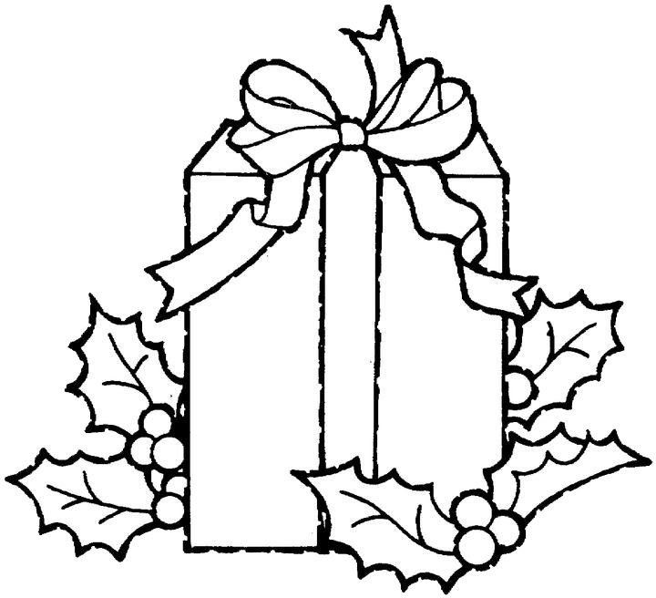 Christmas Gift Clipart Black And White | Free download on ...