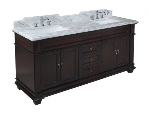 The Elizabeth 72-inch Double Sink Bathroom Vanity has all the high end details you are looking for at manufacturer direct prices