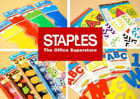 Staples Classroom Supply Giveaway: Kinder Craze