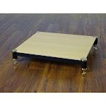 VTI BL404GO-01 BL Series AMP Stand (Gold Cap Black Pole Oak Shelf)
