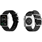Aduro Nylon Buckle Band for Apple Watch Series 1, 2, 3, & 4 38/40 / Black