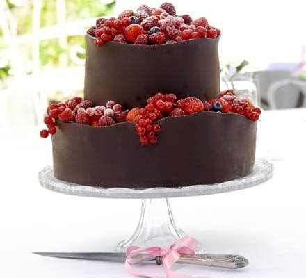 Orange berry wedding cake   BBC Good Food
