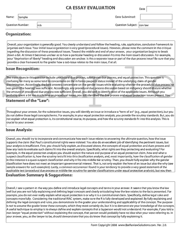 Bar essay exams pradeep soundararajan resume