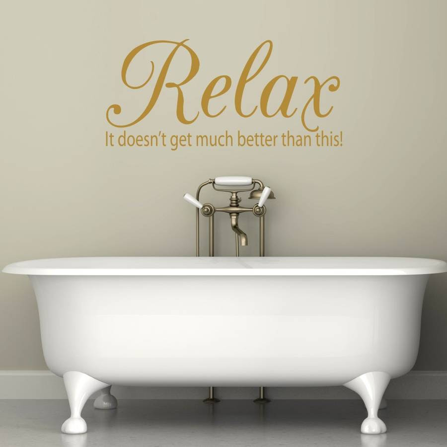 relax quote vinyl wall sticker by mirrorin ...