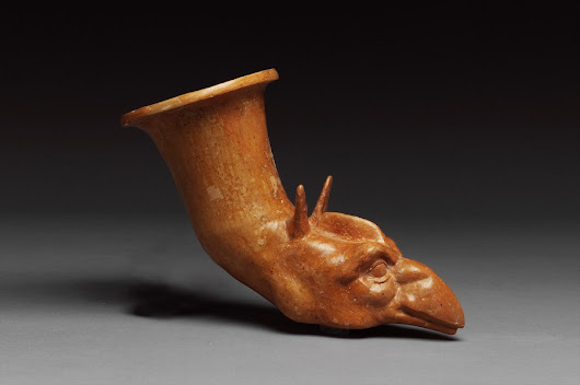 FEATURED ITEM: Greek Terracotta Rhyton with Griffin Protome