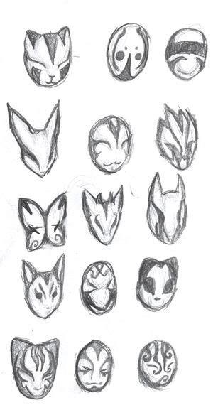 anbu masks  ansemaru  deviantart masks mask