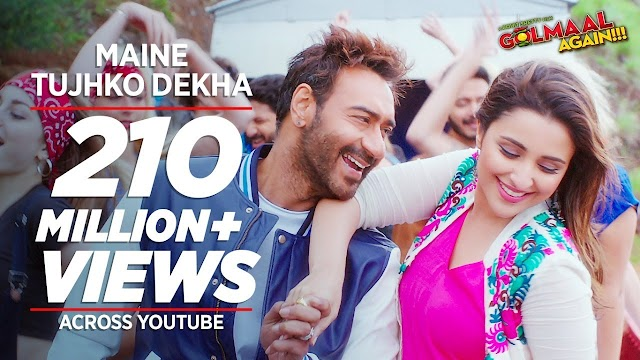 MAINE TUJHKO DEKHA LYRICS - Golmaal Again