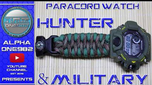 How to make EPIC Paracord Watch Straps Military and Hunters Edition