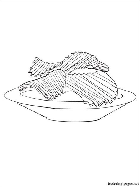 chips coloring page coloring pages