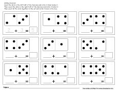 theme numbers dominos activity for children 2