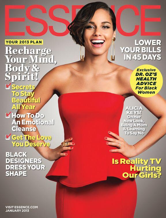 Essence (January 2013), Alicia Keys
