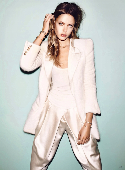 LE FASHION BLOG EDITORIAL WINTER WHITES VOGUE GERMANY MODEL FRIDA GUSTAVSSON WHITE WINTER LOOKS SHOULDER WHITE WINTER LOOKS STATEMENT SHOULDER BLAZER BOUCLE JACKET WITH GOLD BUTTONS WHITE SHEER TEE TANK SATIN HIGH WAIST PANTS GOLD BRACELETS SNAKE BRACELETS CHARM NECKLACE LONG MESSY WAVES WAVY HAIR BEAUTY 1 photo LEFASHIONBLOGEDITORIALWINTERWHITESVOGUEGERMANYFRIDAGUSTAVSSON1.png