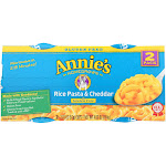 Annie's Homegrown Gluten Free Rice Pasta and Cheddar Microwavable Macaroni and Cheese Cup - 4.02 Ounce -PACK 6