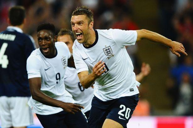 Go Rickie! Lambert screams with joy after his fairytale goal