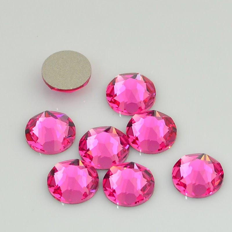 s46289 Swarovski Rhinestones - SS 34 - Xirius Rose Flatback NOT Hot Fix (2088) - Rose (24)