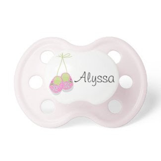 Personalized Posh Pink Shoes Baby Pacifier