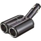 Insignia - Vehicle Power Adapter Splitter - Black