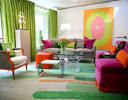 Colorful and Modern Living Room Design - Eileen Kathryn Boyd Kips ...
