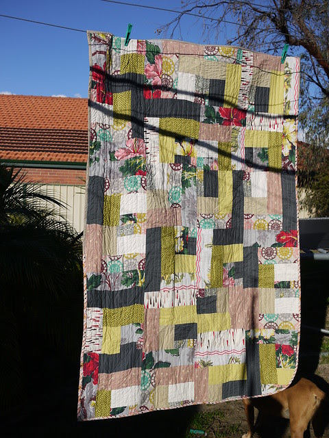 one flew over geo quilt