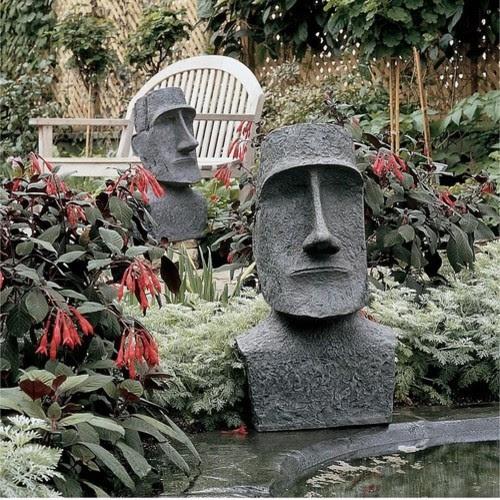 Easter Island Moai Monolith Garden Statue - modern - garden ...