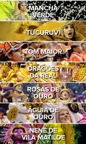 Todas as escolas - Primeiro dia carnaval de São Paulo no Anhembi (Foto: G1)