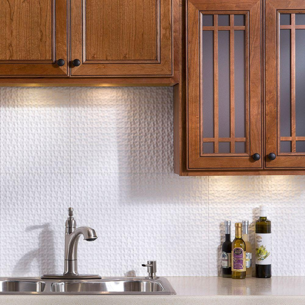 Fasade 24 in. x 18 in. Waves PVC Decorative Tile ...