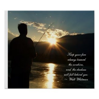 Inspirational Sunset Fishing Silhouette print