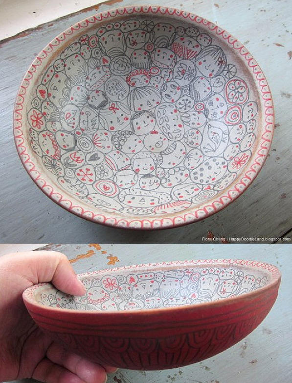 Many Faces Doodle Bowl