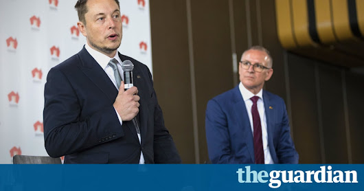 Elon Musk's big battery brings reality crashing into a post-truth world | Tim Hollo | Opinion | The Guardian