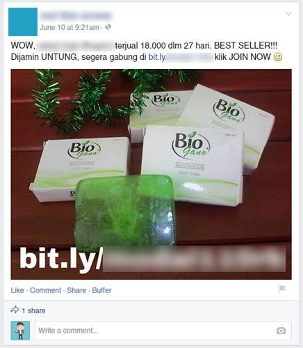 Post tidak berkualitas di FB
