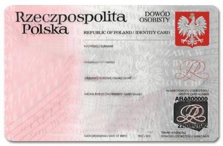Dowód Osobisty Polski Angielski Niemiecki Prawo Jazdy Z