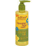 Alba Botanica Hawaiian Facial Wash, Deep Cleansing Coconut Milk - 8 fl oz