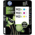 HP 902XL Ink Cartridge, Cyan/Yellow/Magenta - 3-pack