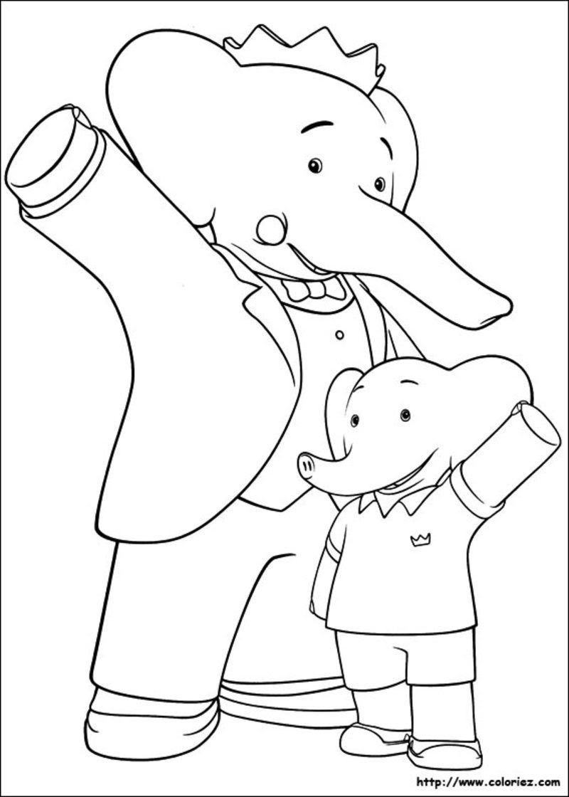 Coloriage Anniversaire Babar.15 Coloriage A Imprimer Babar Imprimer Et Obtenir Une Coloriage