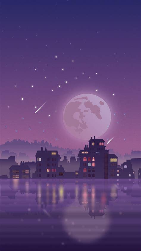 urban night scene wallpaper  android