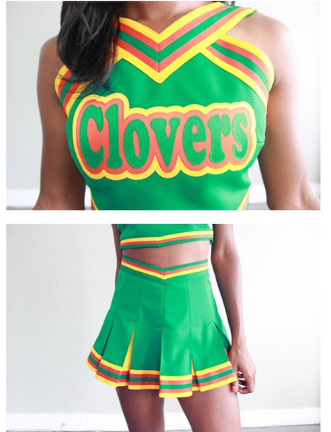 top costume cheerleading green clovers  wheretoget