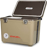 Engel Coolers 19 Quart 32 Can Capacity Lightweight Insulated Cooler Drybox, Tan by VM Express